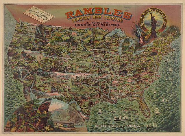 Inclusive Rambles Is A Free Geography Game With Map Very - Us map 1908