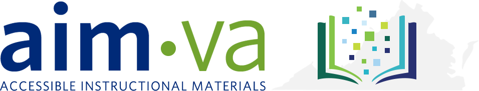 AIM VA Accessible Instructional Materials logo